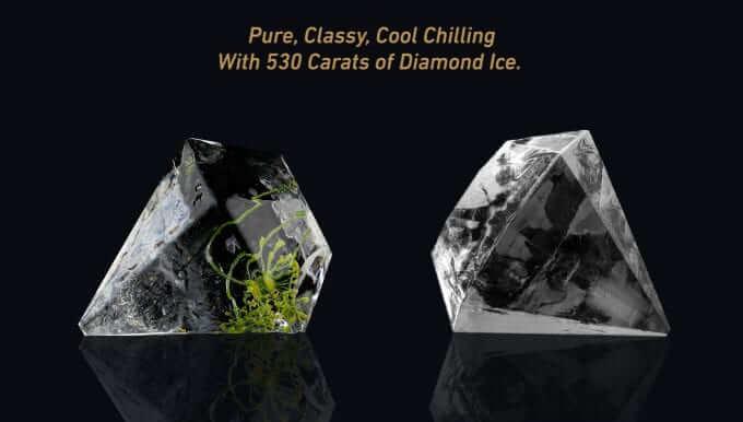 ダイヤモンド形の氷を作る製氷機520 Carats Jewel Ice