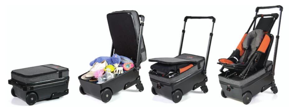 スーツケースとベビーカーを一体にしたBorn to Fly Baby