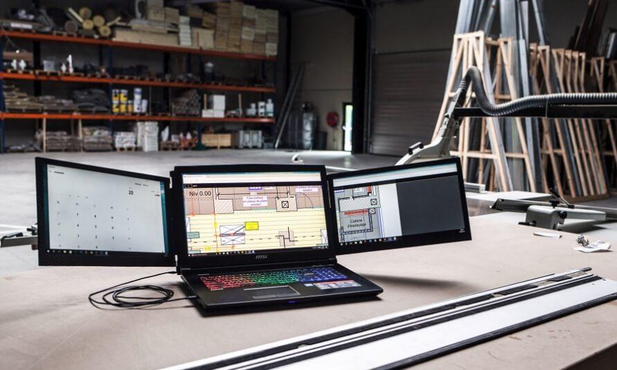 ノートPCスクリーンを3倍にするSlidenjoy