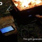 熱で発電もできるBBQコンロOVOO