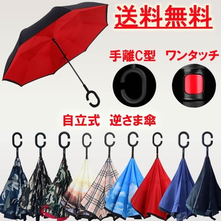 逆さまに開くという画期的な長傘